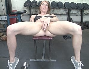Sexy and muscular Charlotte Day is in the gym and asks her trainer, What are we doing today? His answer is something you must see to believe. It involves much more than just exercising! He plays with Charlotte's sexy ass and pussy, getting her all nice and wet. Charlotte takes over and continues playing with her pussy. What's next? Stay tuned.