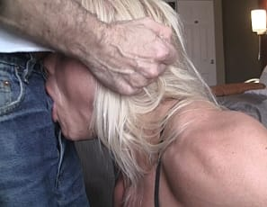 **Part 1 of 3** You remembers Lacey's selfie audition video, right? Well, Lacey and her boyfriend put down the phone and shot the rest of her audition with their video camera. The full video really shows off Lacey's ripped biceps, vascular abs, and shredded glutes and thighs. Lacey is only weeks away from a competition, so she is in great shape. The video also highlights Lacey's amazing oral skills; featuring ball licking, throat fucking and an incredible deep throat - all topped off with a messy facial.  This isn't the last we've seen of Lacey.