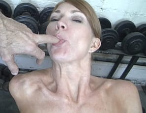 Charlotte loves having a helper in the gym to worship her muscles and play with her sweet pussy. However after a while Charlottes wants what she wants and has to take matters (and her dildo!) into her own hand. She masturbates with her toy and works out her biceps and abs in the process.