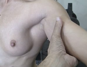 Female bodybuilder Claire is posing nude for you, showing her muscle control of her biceps and pecs, and getting the mature muscles of her tight abs and muscular legs and glutes worshiped, as you enjoy looking at her ass from a close-up POV.