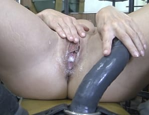 Claire is in the gym enjoying some POV worship from her man, but what happens after the POV stops? Claire gets so worked up from being filmed and felt that she begins riding a big black dildo that is attached to a weight bench - and you can see by her creamy pussy that she is REALLY worked up.